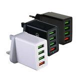 4 USB-poort Laderadapter Snel reizen Mobiele telefoon Snel opladen EU VK VS_