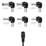Universele 12W 2.1A AC aangepaste aansluiting USB Power Adapter Supply 5.5x2.1mm_