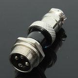5 stuks GX16-4 4-pins 16mm Aviation Pug mannelijke en vrouwelijke paneel metalen connector_