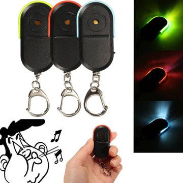 Portable Size Old People Anti-Lost Device Alarm Key Finder Draadloos Nuttig Fluitje Geluid LED Lichtzoeker Finder Sleutelhanger