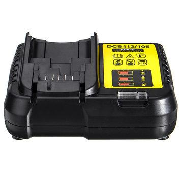 Smart Battery Charger voor D EWALT Battery DCB112 / 105 12V MAX en 20V MAX Lithium-ION