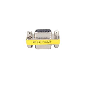 1 stks 15-pins HD DB15 VGA / SVGA-wisselaaradapter VGA-converter voor vrouwelijk hoofd