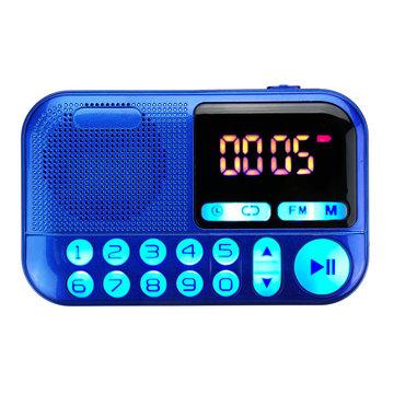 Draagbare FM-radio Digitaal display Dual Voice Coil Luidspreker TF-kaart Muziekspeler