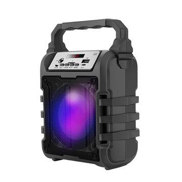 Draagbare Bluetooth draadloze luidspreker Subwoofer Square Dance 3D Surround Sound TF-kaart Muziekspeler met microfoon