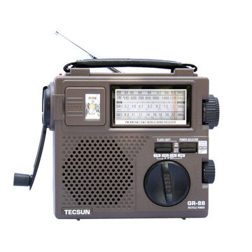 TECSUN GR-88 Digitale radio-ontvanger Noodverlichting Radio Dynamo-radio met ingebouwde luidspreker