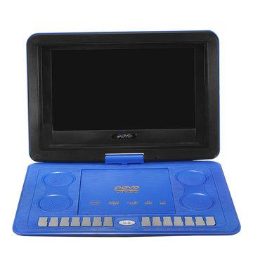 13.8 inch HD TV Home Auto Dvd-speler VCD CD MP3 270 graden draaien Multi Media Game Player met Gamepad-afstandsbediening