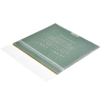 50st 7-inch zwarte schijf beschermende zakken zelfklevende CD opbergtas Transparant 10 draad verdikking