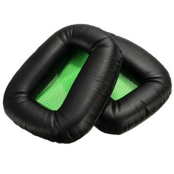 2 x Vervanging Groen Zwart Oorhoofd Kussen Voor Razer Electra Versie Hoofdtelefoon