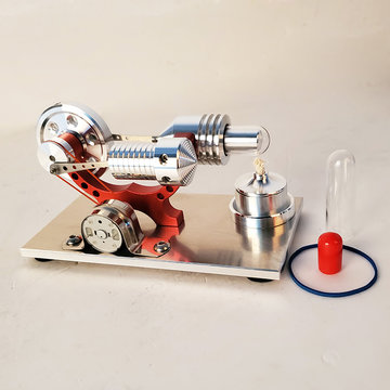 Upgrade Red Stirling Engine Generator Engine Micro Engine Model Steam Engine Hobby Birthday Gift