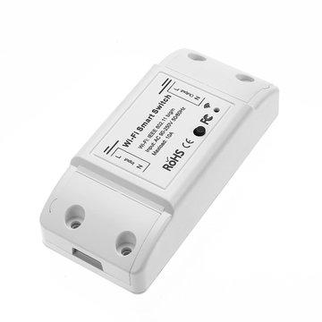 2 stks MoesHouse DIY WiFi Smart Light Switch Universal Breaker Timer Smart Life APP Draadloze afstandsbediening Werkt met Alexa Google Home