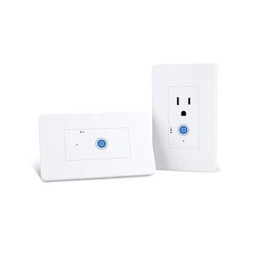 SONOFF® IW100 / IW101 US WiFi Smart Power Monitoring Stopcontactschakelaar Werken met Amazon Alexa en Google Assistant Spraakbesturing LAN-bediening