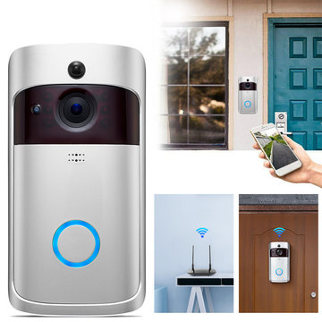 Smart 720P WiFi Video Deurbel Real-time beveiliging Camera Talk Nachtzicht PIR Bewegingsdetectie