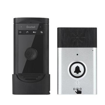 Draadloze spraak-intercom Deurbel Batterij Mobiele 200M Buitenzender met binnentoestel