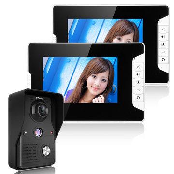 833.225 SY813MK12 7 inch TFT LCD Video Deur Telefoon Deurbel Intercom Kit 1 Camera 2 Monitor Night Vision