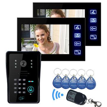ENNIO SY806MJIDS12 LCD Video Deur Telefoon Met IR Camera & Code Toetsenbord