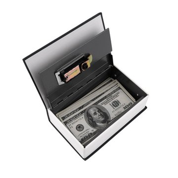 Hot Steel Simulation Dictionary Secret Book Veilig Spaarpot Case Geld Sieraden Opbergdoos Beveiliging Key Lock