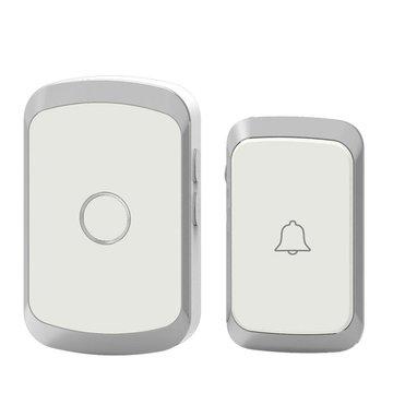 CACAZI A20 Draadloze muziekdeurbel Waterdicht AC 110-220V 300M Externe deurbel 1 knop 1 ontvanger