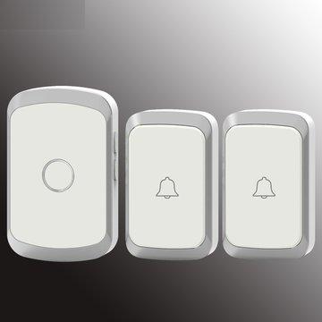 CACAZI A20 Draadloze muziekdeurbel Waterdicht AC 110-220V 300M externe deurbel 2 knop 1 ontvanger