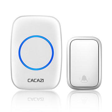 CACAZI FA58 Draadloze waterdichte zelfaangedreven deurbel Geen batterij nodig 1 Zender 1 Ontvanger Home Ring Bell