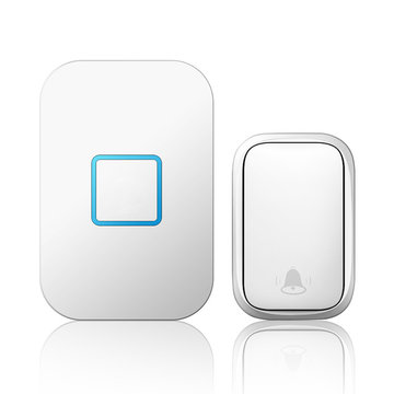 CACAZI Thuis Draadloos Zelfaangedreven deurbel Geen batterij nodig Knopontvanger 1 tot 1 150M Smart-bel op afstand
