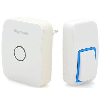 US Plug Augreener Draadloos Draadloze Draadloze Controle Deurbel Batterijvrije 25 Chime Digital Doorbell