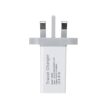 Universele 18W 5V 2.1A-stekker Oplaadadapter voor mobiele telefoon Tablet Luidspreker UK-stekker