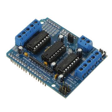 Motor Driver Shield L293D Duemilanove Mega U NR Geekcreit voor Arduino - producten die werken met officiële Arduino-boards
