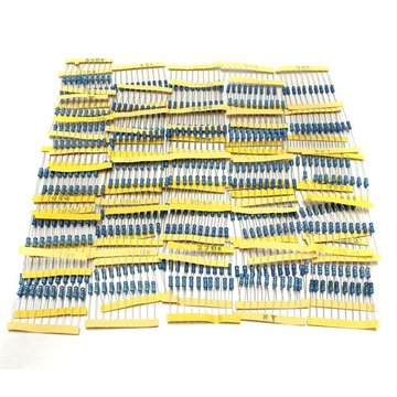 500 stuks 50 waarden Metalen Film Resistors Assorted Kit