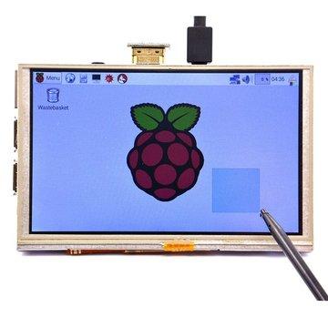 5 Inch 800 x 480 HD TFT LCD-aanraakscherm voor Raspberry PI 3 Model B/2 Model B/B+/A+ / B