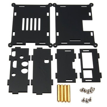 Acryl Case voor I2S Interface HIFI DAC + Audiokaart Raspberry Pi 2 Model B / B+