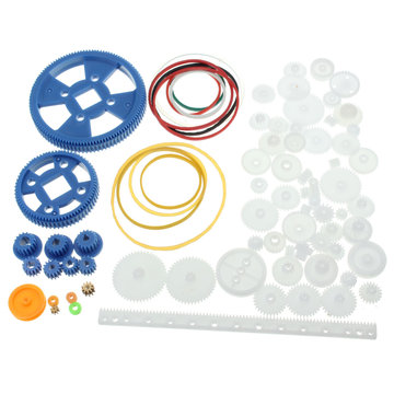80Pcs Plastic DIY Robot Gear Kit Versnellingsbak Motor Gear Set Voor DIY Car Robot