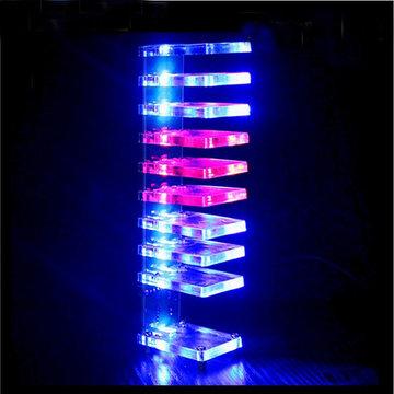 DIY Dream Crystal Elektronische Kolom Licht Cube LED Music Voice Spectrum Kit
