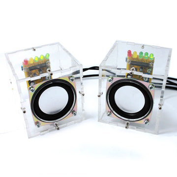 Geekcreit® DIY Transparante Mini Amplifier Speaker Kit 65x65x70mm 3W per kanaal