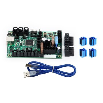 Mini-Rambo 1.3 moederbord geïntegreerde controllerkaart + 4 stuks heatsinks voor Prusa i3 MK2 3D-printer
