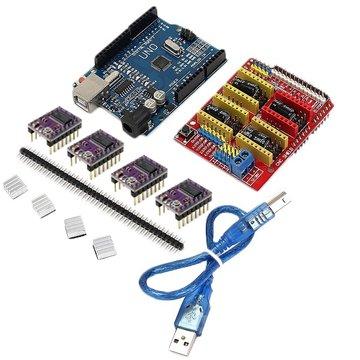 Geekcreit CNC Shield + UNO R3 Board + 4 X DRV8825 Driver Kit voor 3D-printer