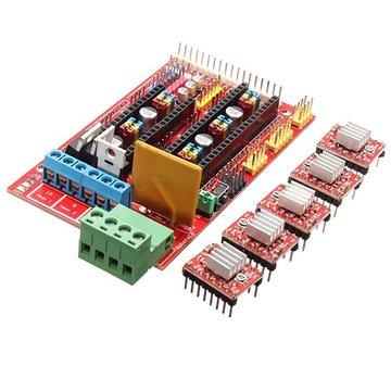 3D-printerset RAMPS 1.4 Bedieningsbord 5 stuks 4988 stuurprogramma met warmtesink