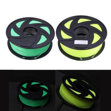 Fluorescentie Geel / Fluorescentie Groen 1,75 mm 1 KG / Rol PLA Gloeidraad voor 3D-printer