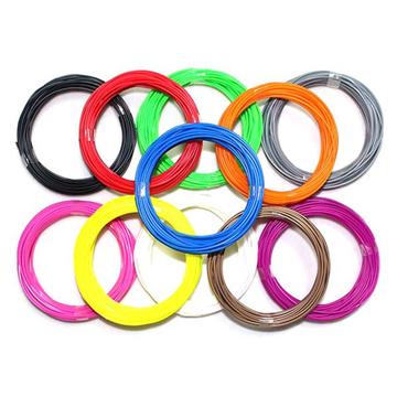 1.75mm 20 kleuren ABS 3D-drukpengloeidraad 5 m per kleurrijk