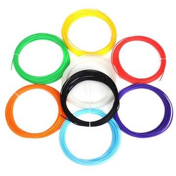 8 kleuren verpakking x 10 m 1.75 mm ABS gloeidraad voor 3D-pen