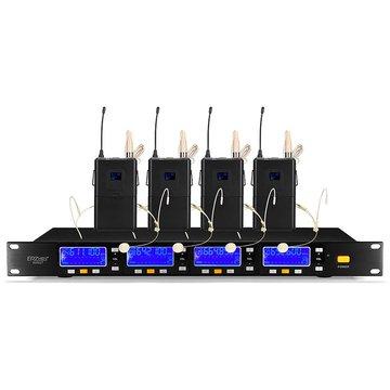 ERZhen 600GT UHF Draadloos 4ch Handheld Microfoon Systeem voor Speech Meeting