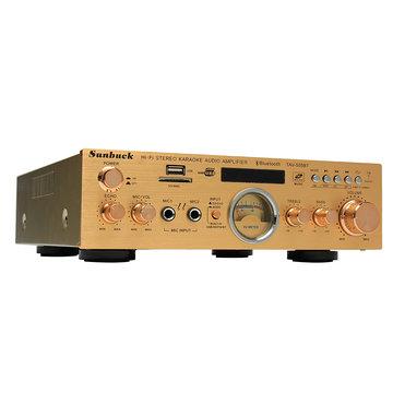 Sunbuck TAV-505BT 400 W + 400 W HiFi Bluetooth Power VU-meter Versterker Stereo Karaoke FM USB-geheugenkaart