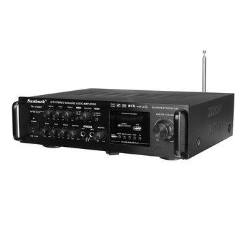 Sunbuck TAV-6188BT 2000 W 4ohm Setero bluetooth FM Karaoke Versterker RC Ondersteuning 2 Microfoon