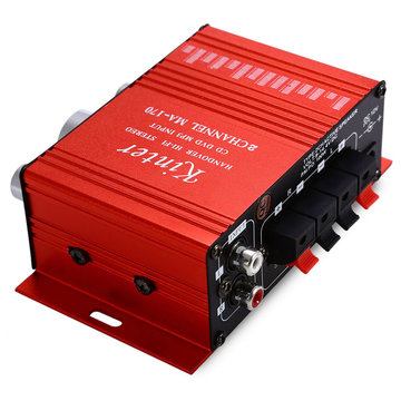 Kinter MA-170 Mini 12V 20W Hi-Fi Stereo versterker Booster DVD MP3-luidspreker
