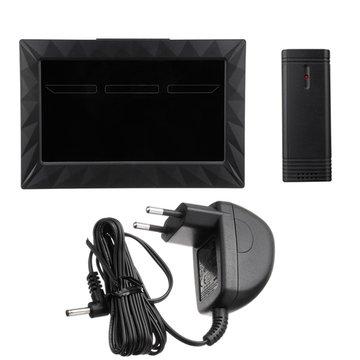TS-Y01 Draadloze digitale outdoor binnentemperatuur- en vochtigheidsmeter LCD-scherm groot scherm Hygrometer Hygrometer Weerstation met datumklok Snooze-alarmfunctie