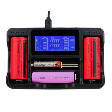 Seiwei YS-4 4-sleuf Lii AA AAA Ni-MH lithium Smart LCD 18650 22650 26650 18650 18350 14500 oplaadbare batterijlader