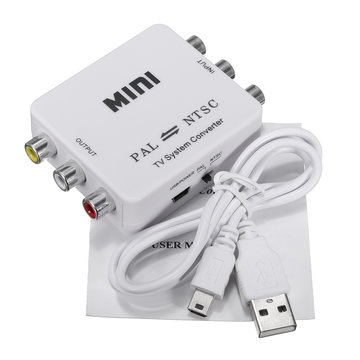 Mini PAL naar NTSC TV Video Systeem Bi-directionele Converter Switch Adapter