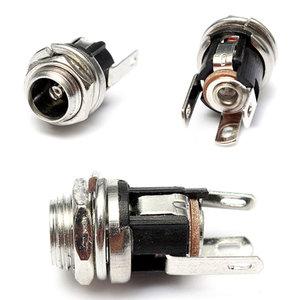 5.5mm X 2.1mm DC Power Supply Metalen Jack Socket Met Noten En Wasmachine
